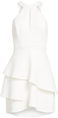 BCBGMAXAZRIA Keyhole Halter Cocktail Dress