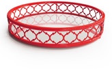 Jay Import Red Metal & Mirror Round Tray