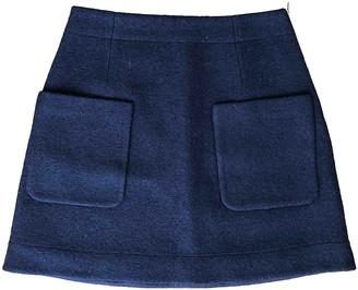 Cos Blue Wool Skirt for Women