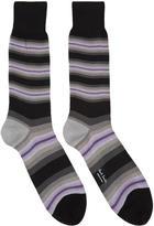 Paul Smith Grey Tiger Stripe Socks