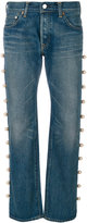Tu Es Mon Tresor jeans with side trim pearl embellishment