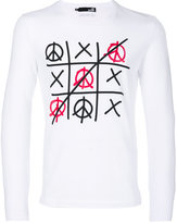 Love Moschino noughts and crosses long sleeve top - men - Cotton/Spandex/Elastane - S