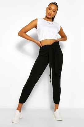 boohoo Knitted Paperbag Jogger