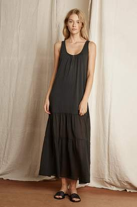 Velvet by Graham & Spencer Velvet By Graham Spencer Lise Cotton Slub Mix Tiered Maxi Dress
