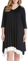 Karen Kane Plus Size Women's Stretch Knit Swing Dress