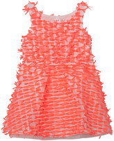 Billieblush Neon Pink Organza All Over Bow Dress