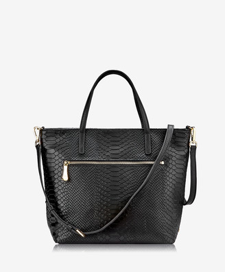 GiGi New York Lexi Crossbody, Black Embossed Python