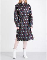 Dries Van Noten Dualy cotton-satin shirt dress