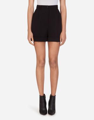 Dolce & Gabbana Double Woolen Fabric Shorts