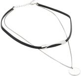 Oxford Chic Leather/Slvr Necklace