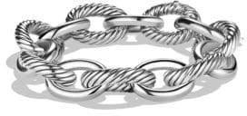 David Yurman Women's Oval Extra-Large Link Bracelet - Silver - Size 7.5