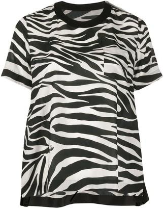 Sacai zebra print relaxed-fit T-shirt