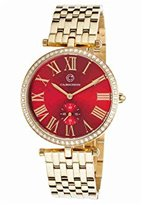 Cabochon Women's 16389-YG-24 Carlita Analog Display Quartz Gold Watch