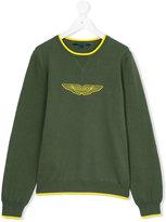 Aston Martin Kids - logo print sweatshirt - kids - Cotton - 14 yrs
