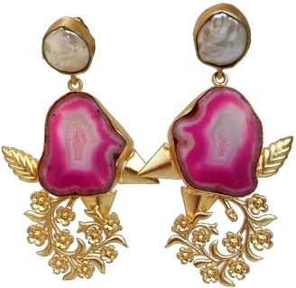Pink Piglet Collection Royal Rose - Statement Earrings