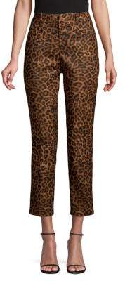 Lord & Taylor Kelly Leopard Printed Pants