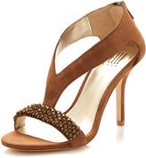 Pelle Moda Kalon Rhinestone Vamp Sandal, Latte