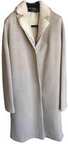 Calvin Klein Collection Beige Wool Coat for Women