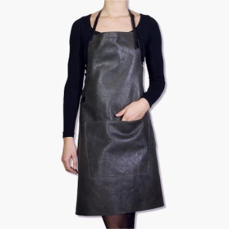 Dutchdeluxe (masson antwerpen) - Vintage Gray Leather BBQ Style Aprons - one size   leather   vintage   GREY - Vintage