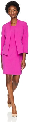 Le Suit LeSuit Women's Petite Crepe Fly Away JKT with Sheath Dress