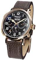 Ingersoll Unisex Automatic Watch with Black Dial Analogue Display and Black Leather Strap IN1917SBK