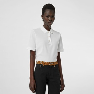 Burberry Monogram Motif Cotton Pique Polo Shirt