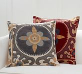 Pottery Barn Suzani Appliqué Embroidered Pillow Cover