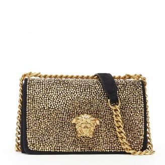 Versace Palazzo Empire Gold Suede Handbags