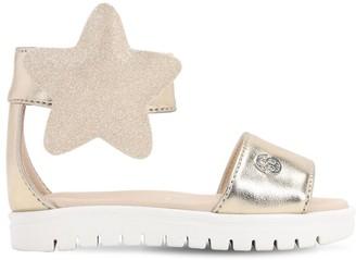 Florens Glitter Sandals W/ Stars Applique