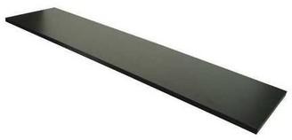 "Econoco Melamine Shelf, 12"" x 48"", Black (Pack of 4)"