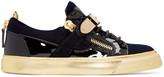 Giuseppe Zanotti Navy Velvet London Sneakers