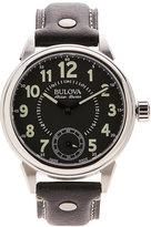 bulova accu-swiss 63A120 Silver-Tone & Black Watch