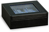 Bey-Berk Bey Berk Black Leather Six Watch Case