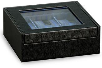 Bey-Berk Black Leather Six Watch Case