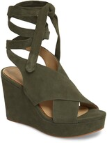 Thumbnail for your product : Etienne Aigner Dominica Suede Platform Wedge Sandal