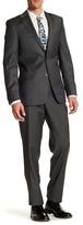 Simon Spurr Green Woven Two Button Notch Lapel Wool Regular Fit Suit