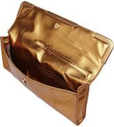 Bottega Veneta Metallic watersnake clutch