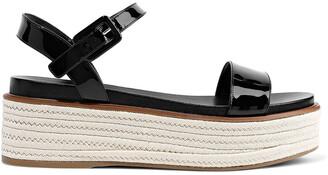 Sergio Rossi Patent-leather Platform Espadrille Sandals