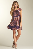 Jessica Simpson JS2A4138 Cap Sleeve Babydoll Dress with Shawl