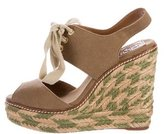 Tory Burch Canvas Espadrille Wedges
