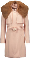 Chloé Shearling-trimmed wool-blend coat