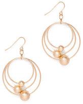 New York & Co. Beaded Triple-Hoop Drop Earring