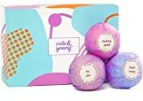 Bath Bombs Gift Set of 6 x 4.2oz – Ideal Gift for Her, Women, Girls, Teens - Pure Natural & Organic Oils - Ultra Lush Spa Fizzies - Add to Bath Bubbles - Bath Basket
