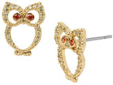 Betsey Johnson Fall Critters Owl Cz Earring
