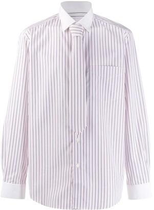 Burberry Classic Fit Monogram Motif Striped Shirt