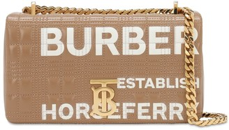 Burberry Sm Lola Logo Print Coated Canvas Bag