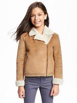 Old Navy Faux-Shearling Moto Jacket for Girls