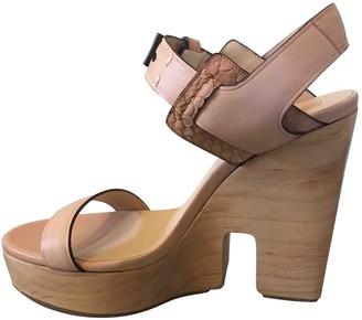 Reed Krakoff Camel Leather Sandals