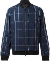 Theory Maxi Check bomber jacket
