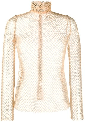 Atu Body Couture Fitted Net Top